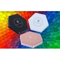 Wireless Qi charger hexagone